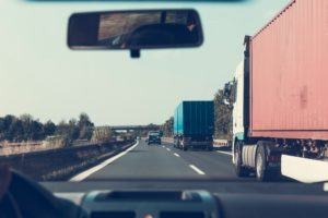 Trucking on the road